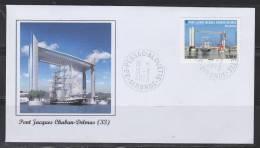 = Pont Levant Jacques Chaban-Delmas, Bordeaux, Passage Du Belem Oblitération 15 03 2013 N°4734 - France