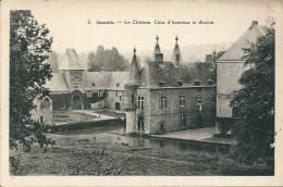 Spontin.   Le Château.  Cour D'honneur Et Donjon. - Yvoir