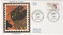 ABEILLE - FDC SOIE 1979 - Honeybees