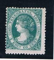 España. Telégrafos. Nº 19* - 1850-68 Kingdom: Isabella II