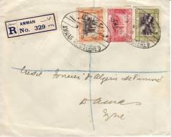 LETTRE OTTOMAN BANK. AMMAN FROM DAMAS. 1933 - Jordanie