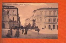 1 Cpa  TARANTO - VIA D'AQUINO DA PIAZZA GIORDANO BRUNO - Taranto