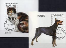 Naturschutz Hunde Katzen WWF 1991 Tanzania Block 201 Plus 227 O 6€ National-Park Bf Fauna Cat Bloc Dog Sheet Bf Tansania - Nature