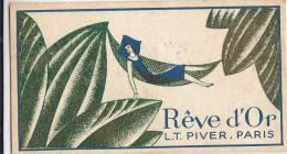 """¤¤  -  CARTE  PARFUMEE  -  """" REVE D'OR """"  De L.T. PIVER De Paris -  ¤¤ - Perfume Cards"""