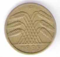 GERMANIA 10 REICHSPFENNIG 1925 - [ 3] 1918-1933 : Repubblica Di Weimar