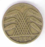 GERMANIA 10 REICHSPFENNIG 1924 - [ 3] 1918-1933 : Repubblica Di Weimar