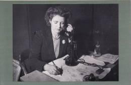 Postcard Woman Lady Doodle Blotter Old Telephone 1948 Nostalgia - Professions