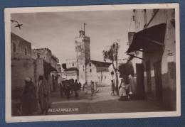 MARRUECOS / MAROC El Ksar El Kebir - CARTE PHOTO ANIMEE ALCAZARQUIVIR - Autres