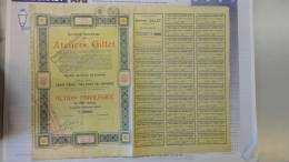13H - SA Ateliers Gillet (camion Voiture Automobile Moto.... Siège Social Herstal Action Privilégiée  1929 - Industry