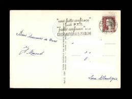 PHILATELIE - Joli Cachet PTT - Caisse Nationale D'Epargne - Recto: Azay-le-Rideau - Marcophilie (Lettres)