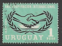 1966 1p Airmail ICY, Used - Uruguay