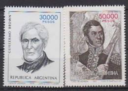 ARGENTINE        1982         N°  1298  / 1299                COTE    13.00     EUROS          ( A160 ) - Argentine