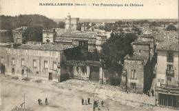 CPA 34 MARSILLARGUES VUE PANORAMIQUE DU CHATEAU JOLI PLAN ANIME - France