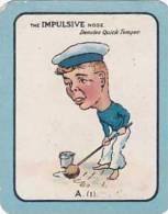 Carreras Vintage Large Carreras Cigarette Card Nose Game No A1 The Impulsive Nose Denotes Quick Temper - Cigarette Cards