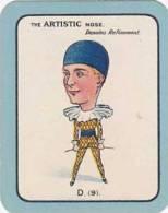 Carreras Vintage Large Carreras Cigarette Card Nose Game No D9 The Artistic Nose Denotes Refinement - Cigarette Cards