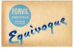 Carte Parfumée Forvil Parfumeur, Equivoque - Cartes Parfumées