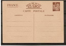 "France : Entier Y.T. ""Sans Valeur - CP2"" Brun S/chamois - Neuf - (t020) - Biglietto Postale"