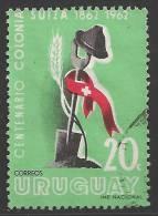 1962 20c Swiss Settlement, Used - Uruguay