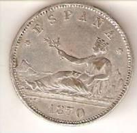 MONEDA DE ESPAÑA DE 2 PTAS DEL AÑO 1870  (COIN) REPLICA - Sin Clasificación