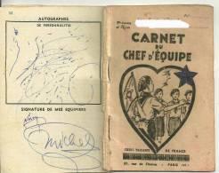 SCOUTISME : COEURS VAILLANTS - CARNET DE BORD DU CHEF D'EQUIPE (NE EN 1937)  Avec Noms Des équipiers - Scoutisme