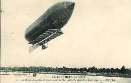 """Le Ballon Dirigeable Mixte De MALECOT Après"""" Le Lachez Tout"""" - Transports"""