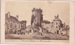 ¤¤  -  BRICQUEBEC  -  Cliché Format Carte De Visite  -  Cour Du Château En 1854 -  ¤¤ - Cartes De Visite