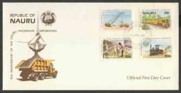 Nauru 1985 FDC - Mi 306 /9 - 15th Ann. Of The Nauru Phosphate Corporation / 15 Jahre Phosphat-Gesellschaft. - Transportmiddelen