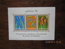 Bloc Juphilux 78 , 5ème Expo.philatélique De Jeunes Philatélistes ,5,6 Et 20 F   ** Parfait état - Blocks & Kleinbögen