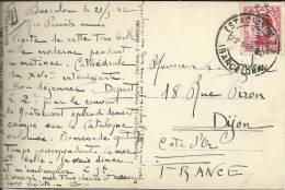 BARCELONA TP MONTSERRAT CON MAT ESTACION MZA SELLO II REPUBLICA - 1931-50 Cartas