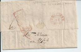LAC --  Stralsund ( Allemagne )  à  Schiedam  ( Pays-Bas )  -- 1870   --  TBE - Poststempel
