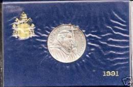 VATICANO VATIKAN - PAPA GIOVANNI PAOLO II  ANNO 1991  LIRE 500 ARGENTO  DOTTRINA SOCIALE DELLA CHIESA - Vaticano (Ciudad Del)