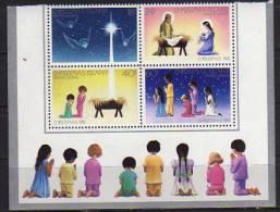Ile Christmas. Noel 1981. Bloc De 4 Neufs ** Bord De Feuille. Cote 5.50  € - Noël