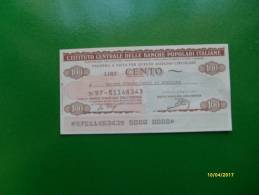 1977 MINIASSEGNO Istituto Centrale Delle Banche Popolari Italiane L.100 Unione Commercianti Avellino - Monete & Banconote