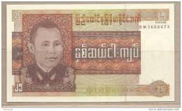 Birmania - Banconota Non Circolata Da 25 Kyats - Myanmar