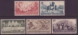 LIECHTENSTEIN, SET OF 5, SG205 - 209, UNMOUNTED MINT, 1942 - Liechtenstein