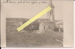 Verdun Région Meuse Bertha Mortier 420mm  église Faubourg Pavé Carte Ph Française  Poilus 1914-1918 14-18 Ww1 WWI 1.wk - War, Military