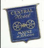 Etiquette De Bagage - Central Hotel - Mainz Am Rhein (Mayence) - Allemagne - Hotel Labels