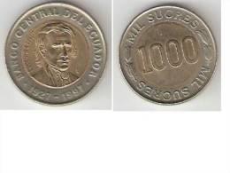 Ecuador, 1000 Sucres  1997  Km 103  Unc !!! - Ecuador