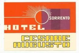 Etiquette De Bagage - Hotel Cesare Augusto - Sorrento - Italie - Hotel Labels