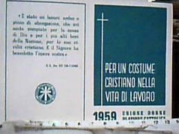 """Tessera 1959 Unione Donne Di """" AZIONE CATTOLICA ITALIANA  CONCOREZZO EF14574 - Organizzazioni"""