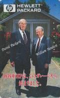 Télécarte Japon - DAVID PACKARD & WILLIAM HEWLETT / Ingénieurs En Electronique Ordinateur PC HP 1939 - Japan Phonecard - Personnages
