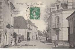 37 GIZEUX   Grande Rue Animée Commerces  HOTEL  En 1916 - Frankreich