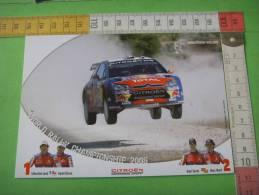 35) Citroen Sport :sebastien Loeb ,daniel Elena  ; Dani Sordo Et Marc Marti : 2 Scans - Passenger Cars