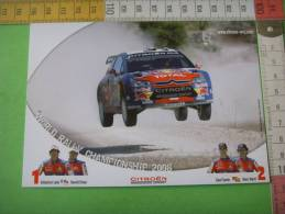 37) Citroen Sport :sebastien Loeb ,daniel Elena  ; Dani Sordo Et Marc Marti : 2 Scans - Passenger Cars