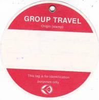 AIR ALGERIA GROUP TRAVEL AVIATION BAGGAGE TAG - Baggage Labels & Tags