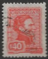 1973 40p Artigas, Used - Uruguay