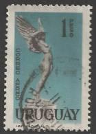 "1959 1p Airmail ""Flight"", Used - Uruguay"