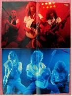 2 Kleine Musik-Poster  Gruppe Status Quo  -  1Rückseite : Adam Ant ,  Von Popcorn Und Bravo Ca. 1982 - Manifesti & Poster