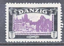Germany  DANZIG  MOURNING LABEL   * - Occupation 1914-18