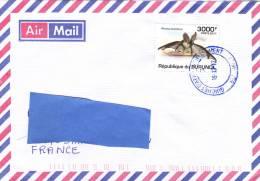 Z] Lettre Burundi Chauve-Souris Bat Plecotus Austriacus - Bats